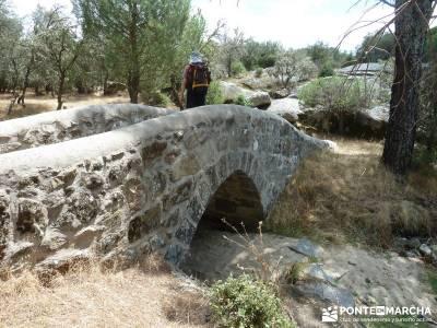 Paseo y Baño por el Valle y Río Tiétar;pueblos abandonados de madrid la barranca de navacerrada